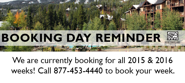 Grand Timber Lodge Booking Reminder